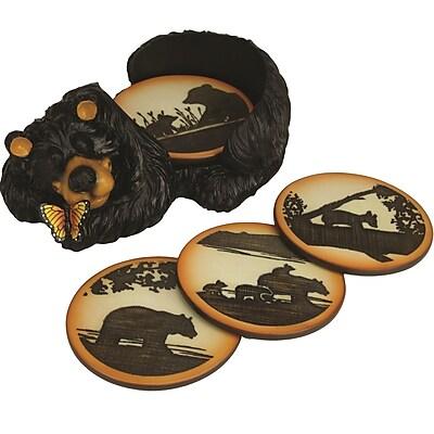 River's Edge Products 5 Piece Bear Coaster Set