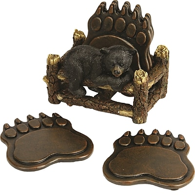 River's Edge Products 5 Piece Bear Paw Coaster Set