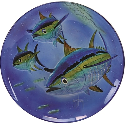 River's Edge Products Guy Harvey Yellow Fin Tuna Glass Platter