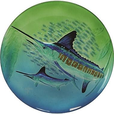River's Edge Products Guy Harvey Marlin Glass Platter
