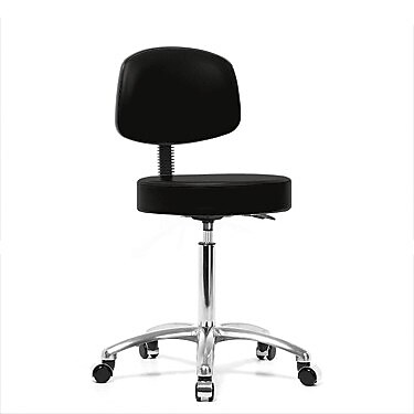 Perch Chairs & Stools Office Chair; Black Fabric