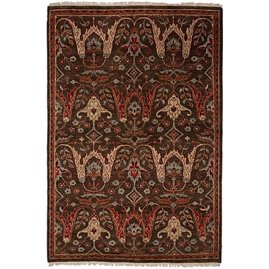 Shalom Brothers Tucson Hand-Woven Brown Area Rug; 4' x 6'