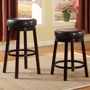 Roundhill Furniture Swivel Bar Stool; Brown