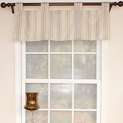 RLF Home Ellery Stripe Tab Earth Curtain Valance