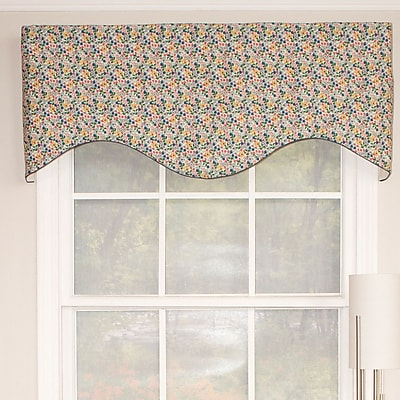 RLF Home Flower Party Cornice Curtain Valance
