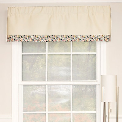 RLF Home Banded Flower Party Curtain Valance