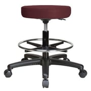 Perch Chairs & Stools Height Adjustable Swivel Stool w/ Foot Ring; Burgundy Fabric