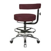 Perch Chairs & Stools Height Adjustable Dental Stool w/ Procedure Arm; Burgundy Fabric