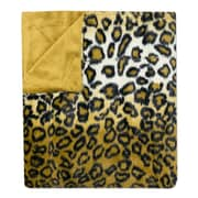 Sweet Home Collection Leopard Print Plush Faux Fur Throw Blanket