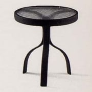 Woodard 18'' Deluxe Obscure Glass Occasional Table; Hammered White