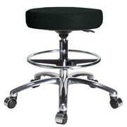 Perch Chairs & Stools Height Adjustable Swivel Stool; Black Fabric