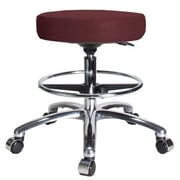 Perch Chairs & Stools Height Adjustable Swivel Stool; Burgundy Fabric