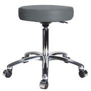 Perch Chairs & Stools Height Adjustable Swivel Stool; Cinder Fabric