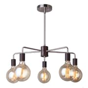 Woodbridge Ethan 5-Light Sputnik Chandelier; Brushed Brass/Black