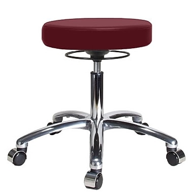 Perch Chairs & Stools Height Adjustable Massage Therapy Swivel Stool; Burgundy Vinyl
