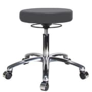 Perch Chairs & Stools Height Adjustable Massage Therapy Swivel Stool; Charcoal Vinyl