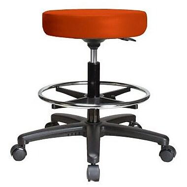 Perch Chairs & Stools Height Adjustable Swivel Stool w/ Foot Ring; Orange Kist Vinyl
