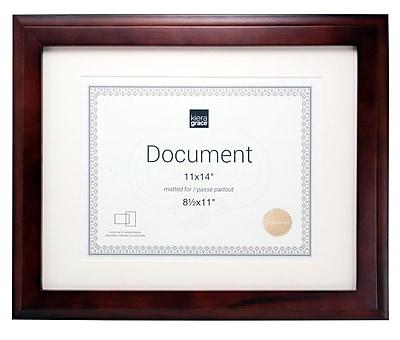 nexxt Design Kiera Grace Oxford Wood Document Picture Frame Set (Set of 8); Espresso