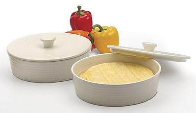 RSVP-INTL Tortilla Warmer; White