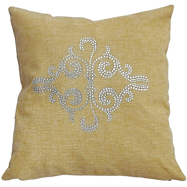 Sparkles Home Rhinestone Crescent Throw Pillow; Sand