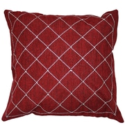 Sparkles Home Rhinestone Criss-Cross Throw Pillow; Ivory