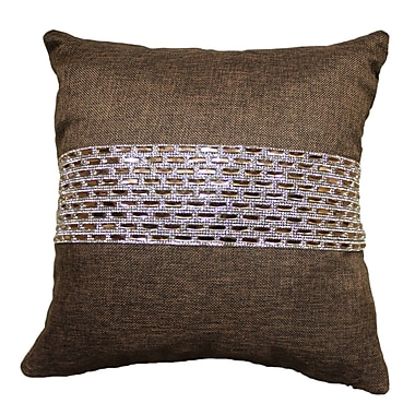 Sparkles Home Park Ave Stripe Throw Pillow; Chocolate