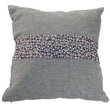 Sparkles Home Throw Pillow; Ash / Amethyst