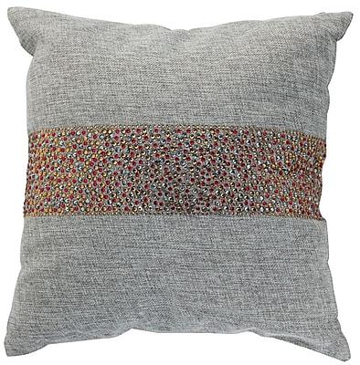 Sparkles Home Throw Pillow; Ash / Cinnamon