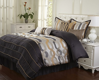 Nanshing America, Inc Rockford 7 Piece Comforter Set; King