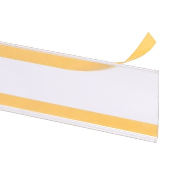 Kostklip® ClearVision® Flat Mount Ticket Moulding, Clear Tape, 2.5