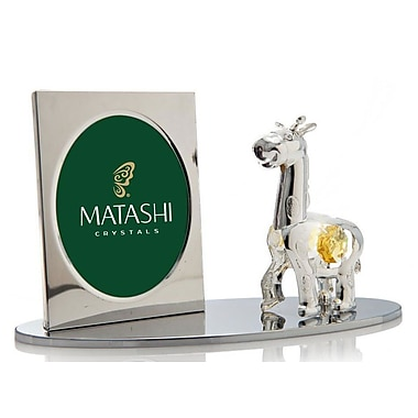 MatashiCrystal Cartoon Giraffe Picture Frame
