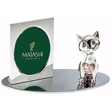 MatashiCrystal Cartoon Cat Picture Frame