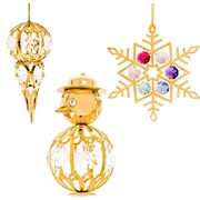 MatashiCrystal 3 Piece Snow Ornament Set