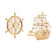MatashiCrystal 2 Piece Ship Ornament Set