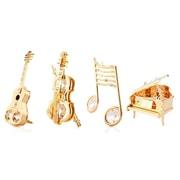 MatashiCrystal 4 Piece Musical Ornament Set