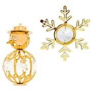 MatashiCrystal 2 Piece Snow Ornament Set