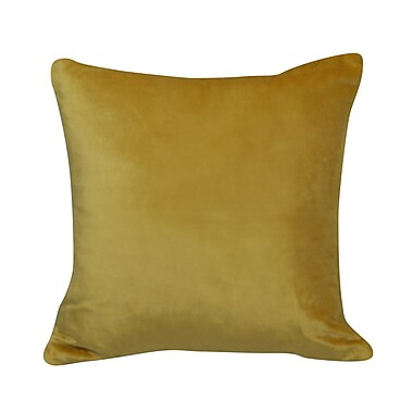Westex Urban Loft Velvet Throw Pillow; Yellow