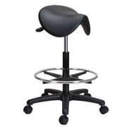 Perch Chairs and Stools Height Adjustable Saddle Stool with Foot Ring
