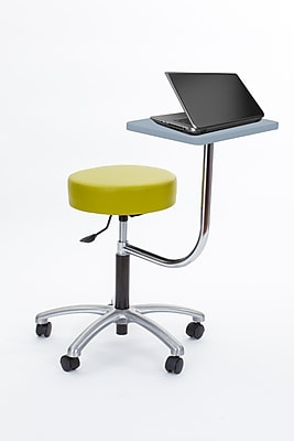 Brandt Laptop Adjustable Height Revolving Stool with 360 Degree Rotating Desk (14111 Apple)