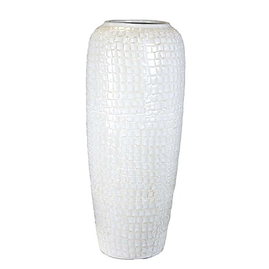 Sagebrook Home Ceramic Vase; 14.75'' H x 6.25'' W x 6.25'' D