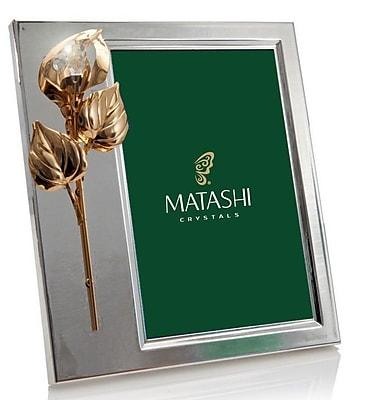 MatashiCrystal Calla Flower Teardrop Ornament Picture Frame