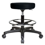 Perch Chairs & Stools Height Adjustable Swivel Stool w/ Foot Ring; Black Vinyl