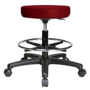 Perch Chairs & Stools Height Adjustable Swivel Stool w/ Foot Ring; Burgundy Vinyl