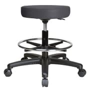 Perch Chairs & Stools Height Adjustable Swivel Stool w/ Foot Ring; Charcoal Vinyl