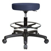 Perch Chairs & Stools Height Adjustable Swivel Stool w/ Foot Ring; Imperial Blue Vinyl