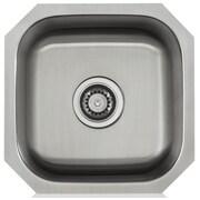 Lenova Apogee 16'' x 8'' Stainless Steel Single Bowl Undermount Kitchen Sink