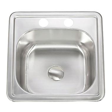 Lenova Apogee 15'' x 6'' Stainless Steel Topmount Kitchen Sink