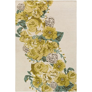 Artistic Weavers Botany Emilia Hand-Tufted Yellow Area Rug; Rectangle 4' x 6'
