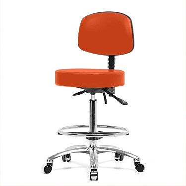 Perch Chairs & Stools Drafting Chair; Orange Kist Vinyl WYF078279046344