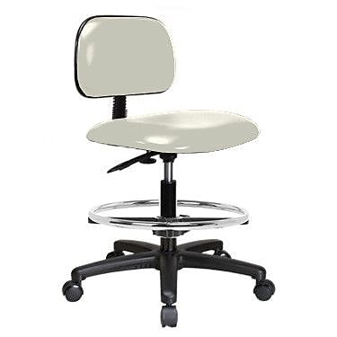 Perch Chairs & Stools Low-Back Drafting Chair; Adobe White Vinyl WYF078279046353